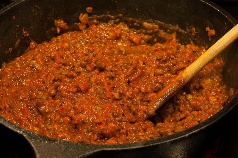 Chorizo Linsen Lasagne