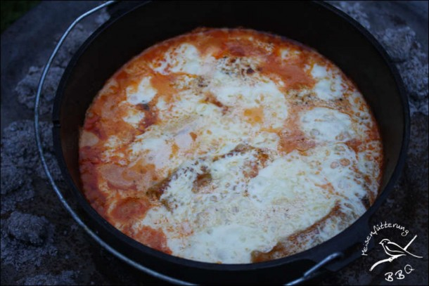 Cannelloni aus dem Dutch Oven